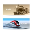 Train Banner Set vector image