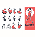 fashion emblems vector image