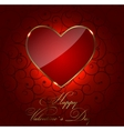 Valentines day heart backgroung vector image