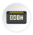 Taximeter icon flat style vector image