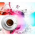 Infograph background template with a fresh coffee vector image