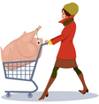 Grocery shopping for holidays vector image