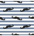 Tile moustache sailor blue white background vector image