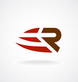 R letter logo template Fast speed symbol Rapid vector image