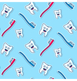 Health teeth seamless pattern vector image