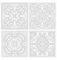 unique coloring book square page set for adults vector image