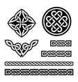 Celtic Irish patterns and braids -  St Patr vector image