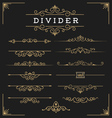 Set of horizontal flourishes divider vector image vector image