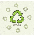 Set of hand drawn doodle recycle reuse vector image