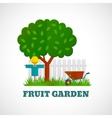 Fruit Garden Poster vector image