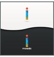 letter I logo alphabet mosaic icon set background vector image
