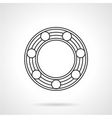 Line icon for ball bearing vector image