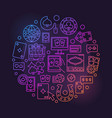 online casino linear bright vector image