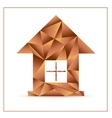Origami house from triangles vector image
