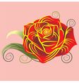 Rose in vector image