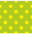 Seamless spring pattern with yellow polka dots vector image