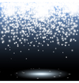 Sparks and glitters scene background vector image