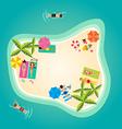 Summer holiday in tropical ocean island vector image