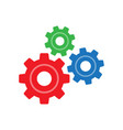 three gear sign simple icon on background vector image