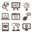 internet marketing icons vector image vector image