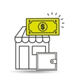 store online wallet money icon vector image