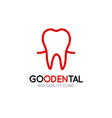Healthy tooth Logo design template in linear style vector image