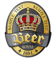 beer label design with crown vector image