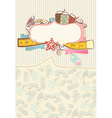 Pretty card with sewing accesories vector image