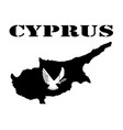 Symbol of cyprus and map vector image