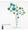 Abstract education background Growth flower vector image