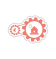 paper sticker on white background house money vector image