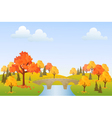 Autumn park vector image