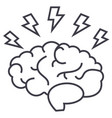 brainstorm line icon sign on vector image