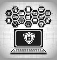 laptop technology security data vector image