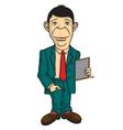 Man office worker vector image