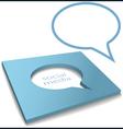 social media speech bubble box cut out vector image
