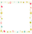 Easter eggs colorful frame with polka dot vector image vector image