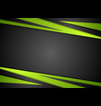 Black and green abstract design vector image vector image