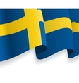 Background with waving Swedish Flag vector image