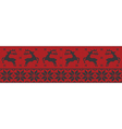 red and black christmas jumper vector image vector image