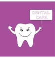 Dental care design concept Human tooth smile vector image