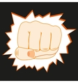 Fist overpunching wall vector image
