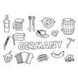 Germany travel set vector image
