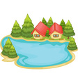 Nature cabins vector image vector image