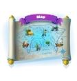 Atlantis ruins GUI - level game map on white vector image