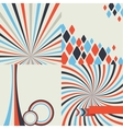 Abstract retro style geometric background set vector image