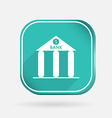 bank building Color square icon vector image