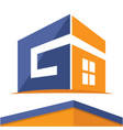 construction business logo with the initials vector image