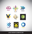 Logo design elements set icon vector image