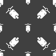 motorcycle icon sign Seamless pattern on a gray vector image